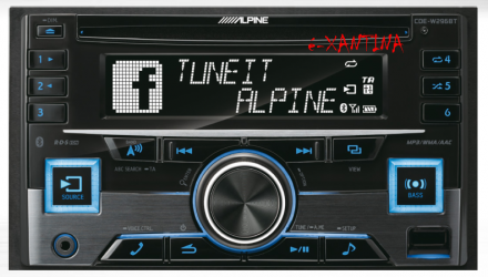 ALPINE CDE W296 BT